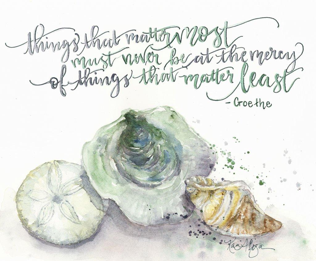 Things That Matter Least Watercolor Painting by Kari Alisa Watson - Doodlewash