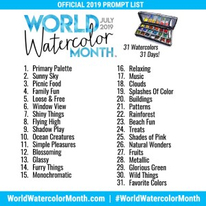 World Watercolor Month 2019 Official Prompt List