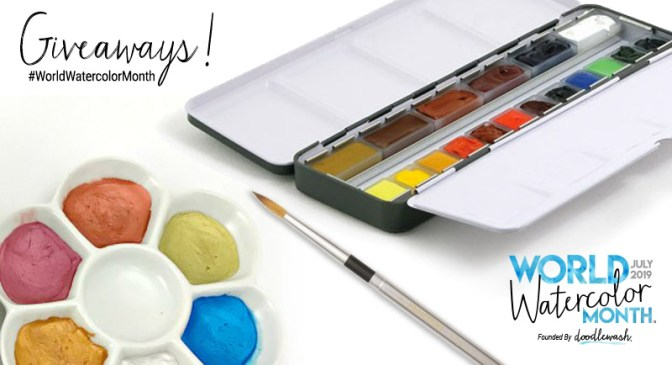 World Watercolor Month 2019 Official Giveaways Image
