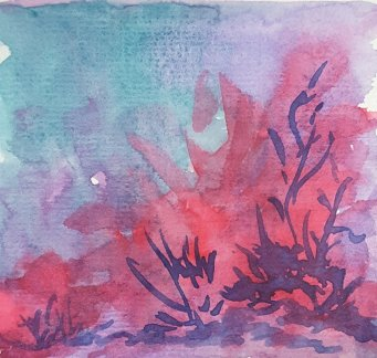 I hope you like these paintings inspired by Angela Fehr's tutorial today on color theory. Hot