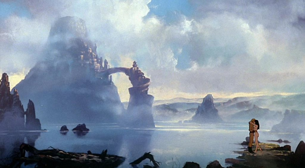 Set Painting from Fire & Ice Movie