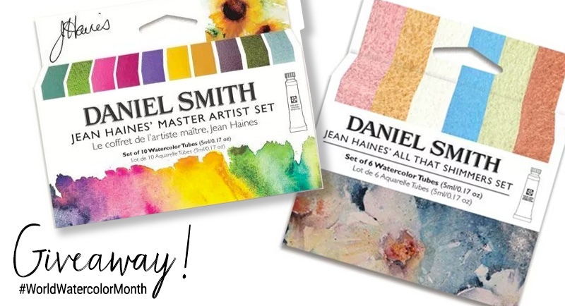 Daniel Smith World Watercolor Month Giveaway Share Graphic 2019