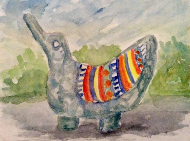 #worldwatercolormonth; day 21: Patterns: Sculpture in a Darwin Australia park IMG_0892