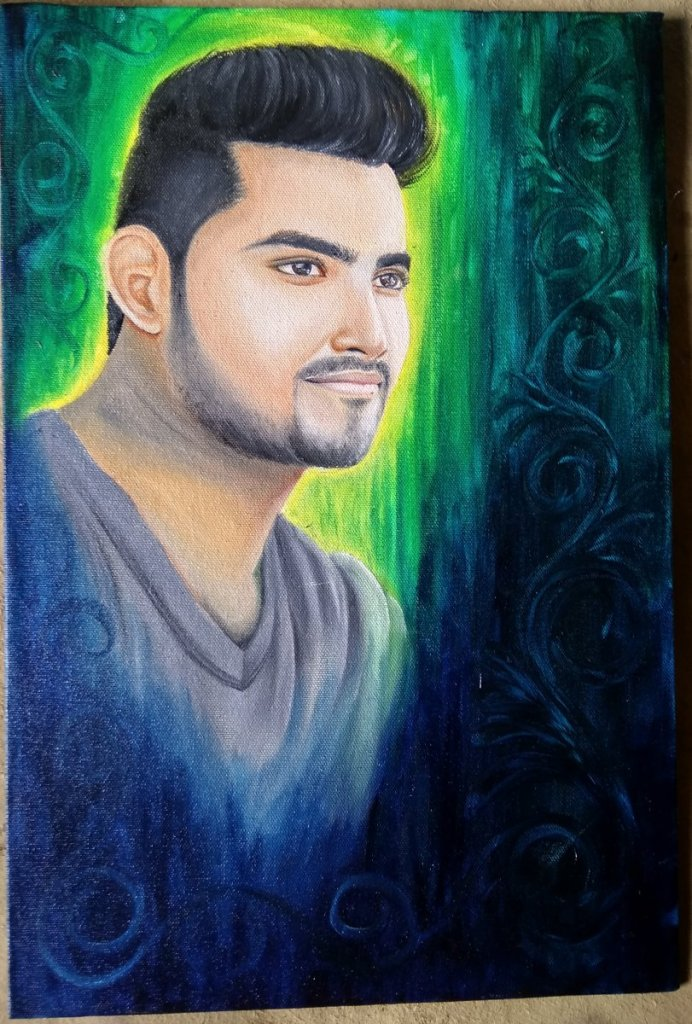 Hello friends I'm new member This is my oil painting.. IMG_20190704_115518