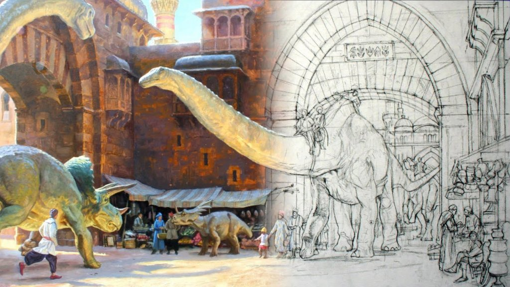 James Gurney Dinosaur Process Painting