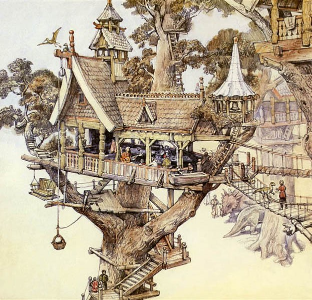 Treehouse Illustration by James Gurney