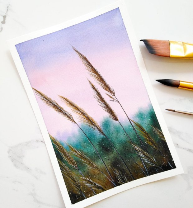Nesrine Ziadi watercolor nature Doodlewash