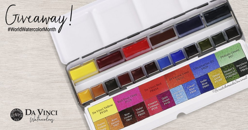 Scratchmade Da Vinci World Watercolor Month Giveaway Sharing Image 2019
