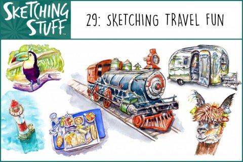 Sketching Stuff Podcast Episode 29_ Sketching Memories Album Art