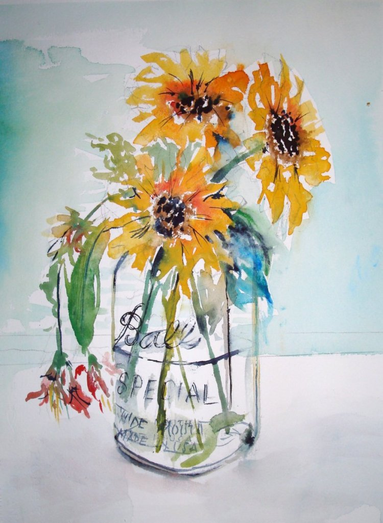 Fresh flowers in a glass jar or vase is a summertime staple. It brings nature's beauty as clos