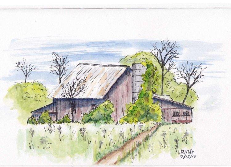 Sketch of a barn in northwest Ohio. barn