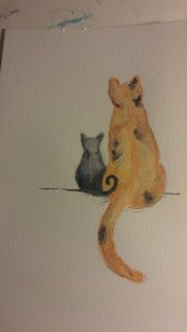 Day 14 – furry things. I have several stray cats in my neighborhood. One set is a mama and her