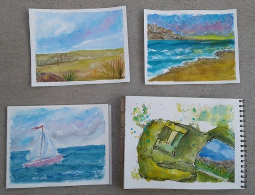 So many paintings… I spent the last two weeks of July on the Oregon coast. It was absolutely b