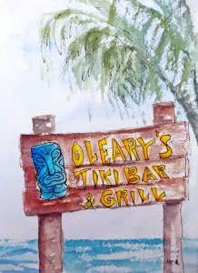 8/7/19 Sign This sign is no longer there but the Tiki Bar and Grill remain and it's a fun plac