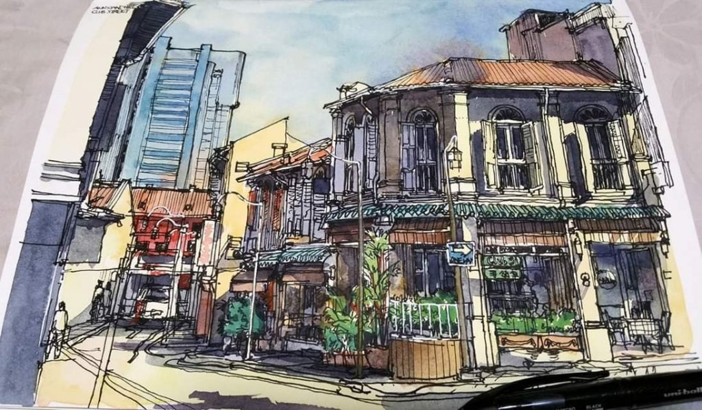 On Location Sketches with a splash of watercolor This is where i start in my journey to get enough c