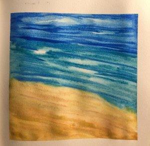 #doodlewashAugust2019 #TravelFun #WorldWatercolorGroup Day 16: Beach DAB0A265-F3CD-4FDF-90A7-4B09496