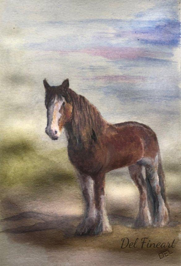 Duke Watercolor by Del Fineart
