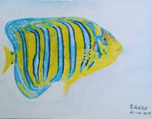 Desafío dia 20 de agosto 2019 @doodlewashed Dia 20:#pez #fish – – – – – – – – #worl