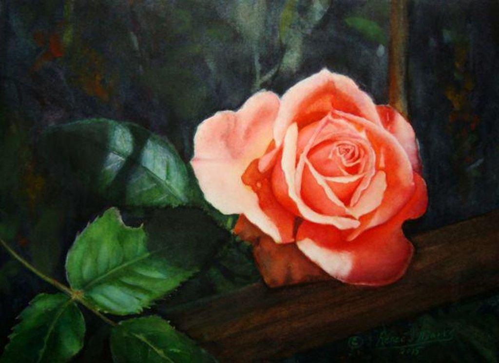 Rose Watercolor Painting Renee Marks
