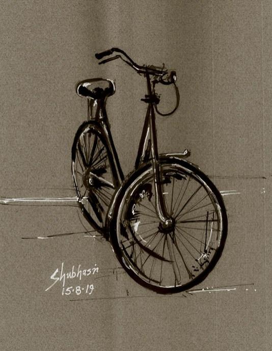 Cycle drawing by Shubhasri Dasgupta