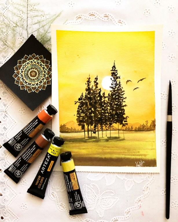 Landscape Watercolor Painting by Kratika Agarwal