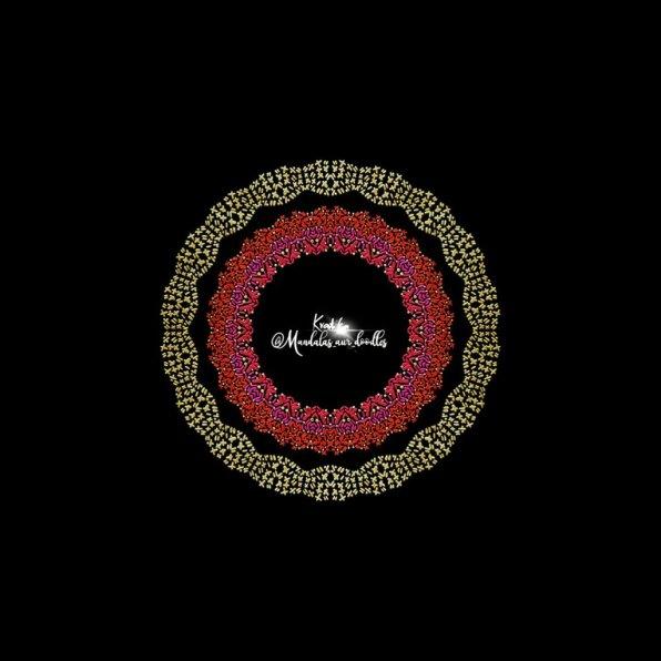 Mandala Digital Illustration With Words by Kratika Agarwal