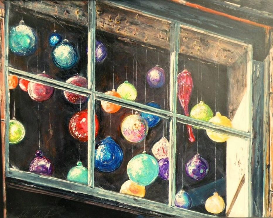 Illuminated ornaments. Acrylic on board- 22″x 32″ 10987669_656984171073863_4988724537273