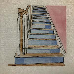 """Prompt: Stairs """"Our actions in the present build the staircase to the future. The question is whet"""