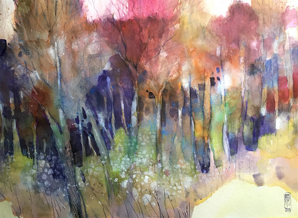 Misty woodland – Watercolor on cotton paper 38×56 cm 6281F339-391F-4F55-A7F8-B5177591B313