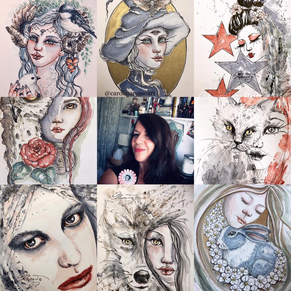 Me and all my watercolor faces! AertVsArtist2019