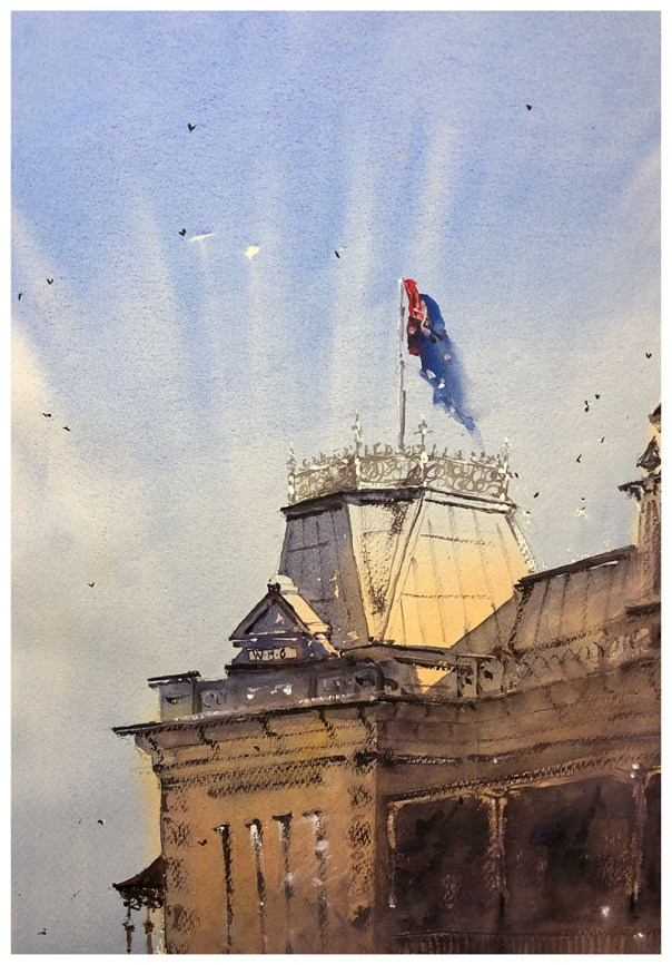 Building Watercolour Painting by Tony White