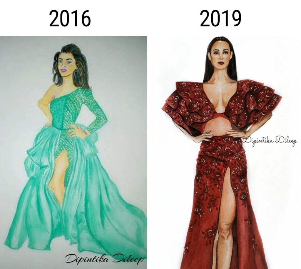Fashion Watercolor Illustration Improvement by Dipintika Dileep