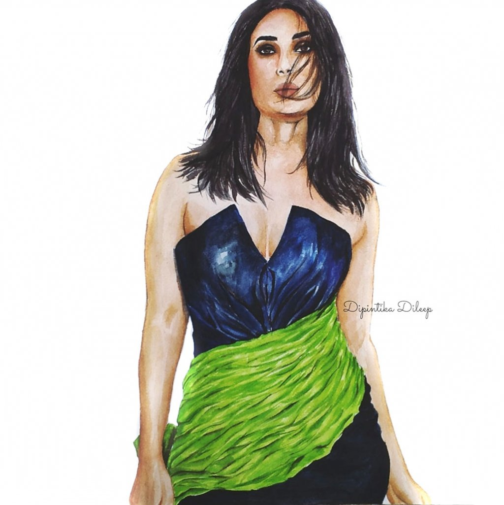 Fashion Watercolor Illustration by Dipintika Dileep