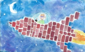 My oldest son used to daydream about building all kinds of things with bricks–even a spaceship