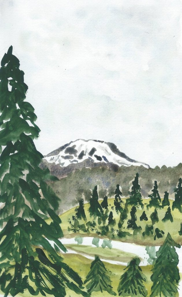 August travelog: The other side of the mountain–we live to the northwest of Mt. Rainier, but t