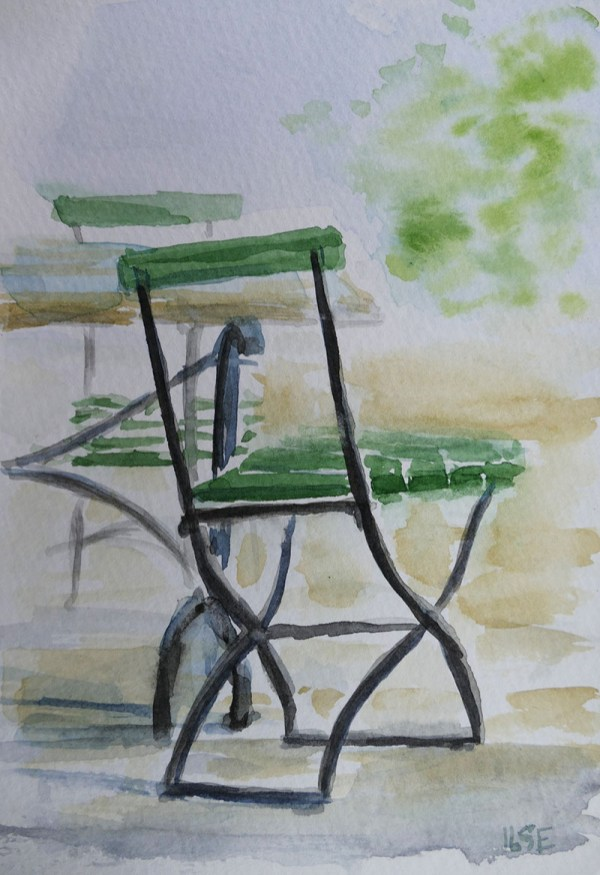 stol watercolour painting by Ilse Hviid