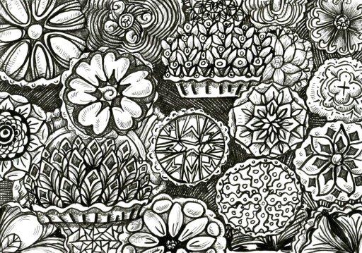 Pattern Pies for Inktober #Inktober2019 #ZebraPenUS #ZensationsChallenge #DoodlewashOctober2019 #Hah