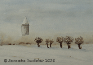 I am painting for a challenge again! The theme is 'Silent night, white splendor' (the Du