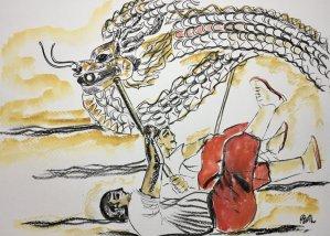Day 12: Reptile/dragon Dragon dance in Vietnam (traditional dragon head in Vietnamese culture) 994A9