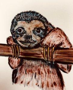 #doodlwashOctober2019 #doodlewashOctober2019AutumnFun Day 18: Sloth B1810799-BE69-4117-BF17-7D932D20