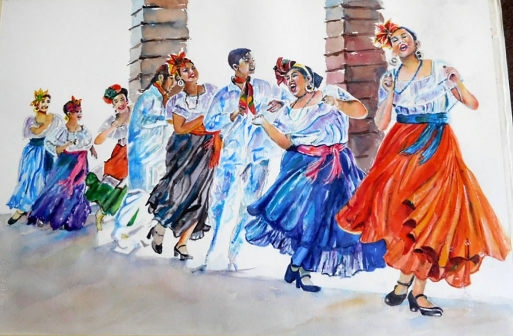 Dancers Watercolor Painting Kathleen M Ward