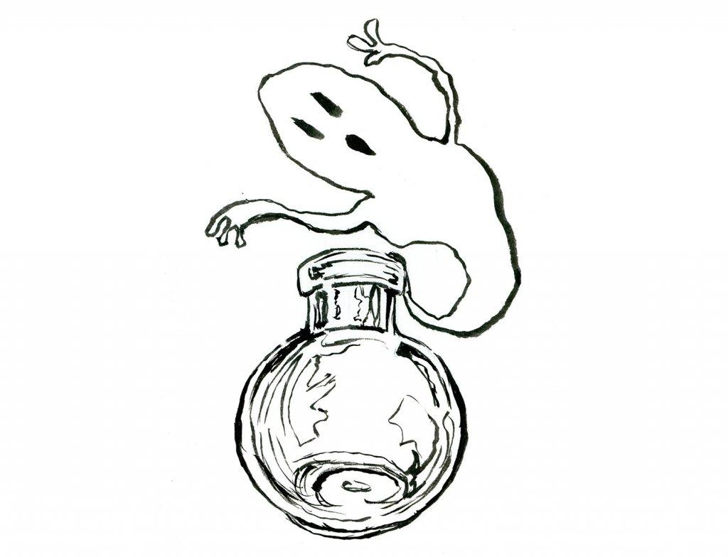 Ghost Potion In A Bottle Inktober 2019 Illustration