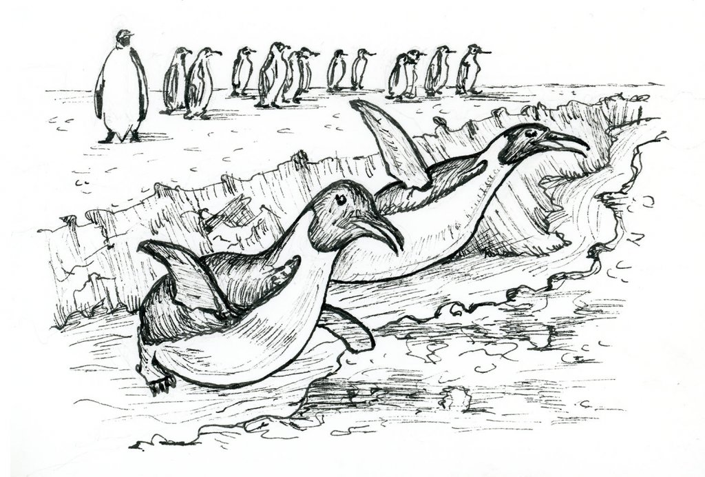 Ice Breakers Penguins Inktober 2019 Drawing