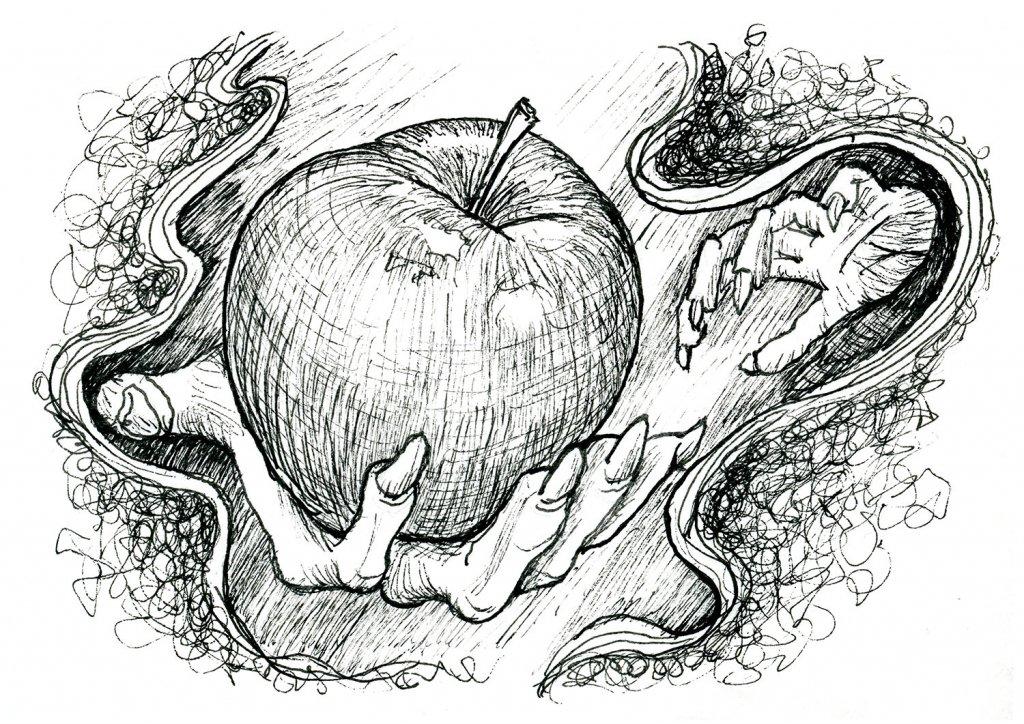 Snow White Witch Apple Inktober 2019