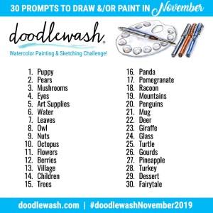 Drawing Painting Prompts Doodlewash November 2019