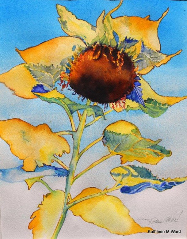 Flower Watercolor Painting Kathleen M Ward