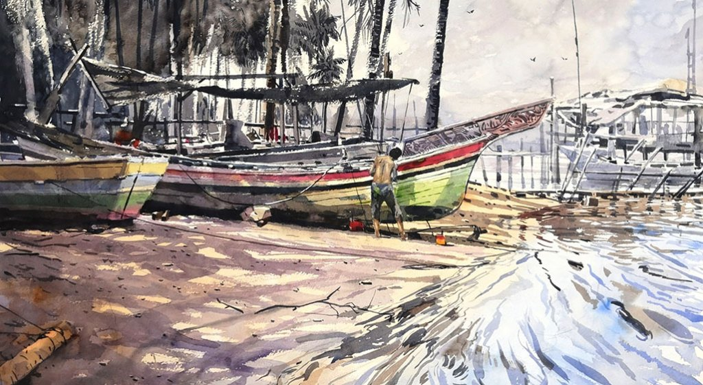 KOLEK BUILDER Watercolour Painting