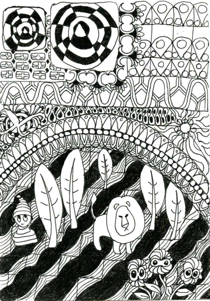 Zentangle Patterns Example Tangle All Around The World Book