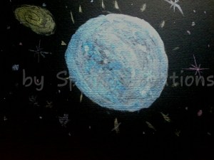 night time sky in metallic water colors on black paper. 🙂 PSX_20191022_100900