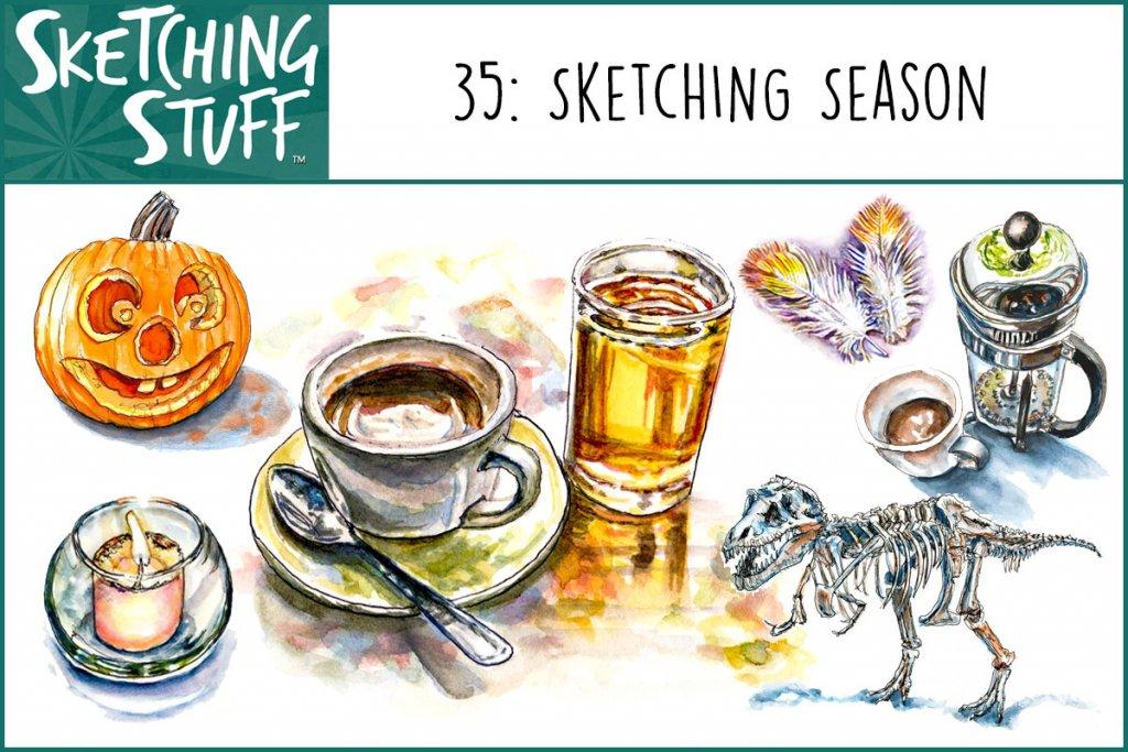 Sketching Stuff Episode 35 Album Art Sketching Season